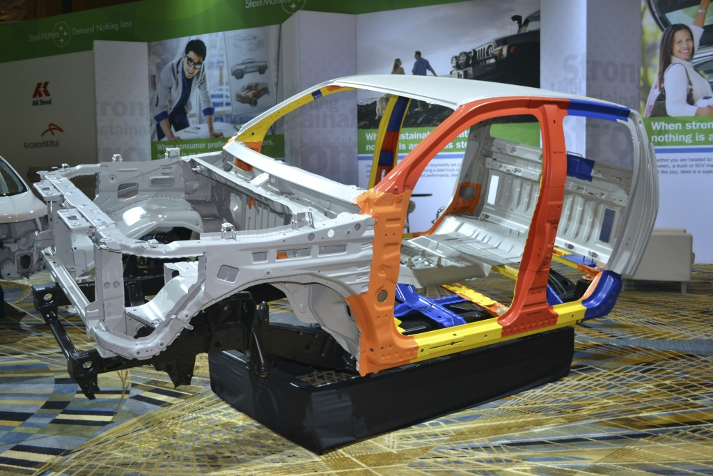 To score better in the Insurance Institute for Highway Safety's 'Small Offset' crash  testing, automotive engineers are changing the design of the Upper Rail.  What used  to be an unsupported structure is now becoming a substantial element that starts at  the firewall, runs above the wheelwell, and then ties into the front sub-frame.